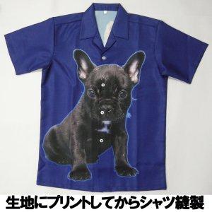 画像1: オーナーグッズ ペット写真 から生地プリントの アロハシャツ作製 1着から