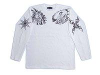 風神雷神 和柄 長袖Tシャツ 刺青デザインの紅雀(名入れ刺繍可)通販