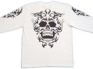 画像5: スカルトライバル 和柄 長袖Tシャツ 刺青デザインの紅雀(名入れ刺繍可)通販