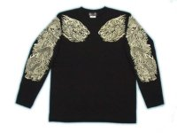 龍須佐之男 和柄 長袖Tシャツ 刺青デザインの紅雀(名入れ刺繍可)通販 和柄服