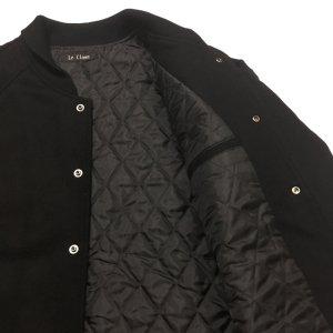 画像4: ファラオ コート ウール メルトン 黒 無地 日本製 3L迄