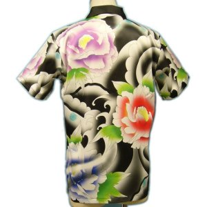 画像3: [一枚特注] メンズ オリジナル アロハ/半袖 男性用ウェア(服/洋服/シャツ/総柄/フルカラー/ハワイアンシャツ S/M/L/2L/3L大きいサイズ/ オリジナル アロハシャツ 作成 1枚から アロハシャツ 派手