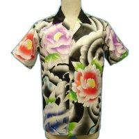 [一枚特注可] メンズ 和柄 アロハ/半袖(化粧彫りタトゥーアロハ)男性用ウェア(服/洋服/シャツ/和柄 シャツ/刺青 アロハ/アロハシャツ 派手/ハワイアンシャツ S/M/L/2L/3L大きいサイズ/ オリジナル アロハシャツ 作成 1枚から