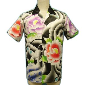 画像2: [一枚特注] メンズ オリジナル アロハ/半袖 男性用ウェア(服/洋服/シャツ/総柄/フルカラー/ハワイアンシャツ S/M/L/2L/3L大きいサイズ/ オリジナル アロハシャツ 作成 1枚から アロハシャツ 派手