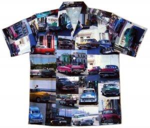 画像1: フォト アロハシャツ クラシックカー カラー
