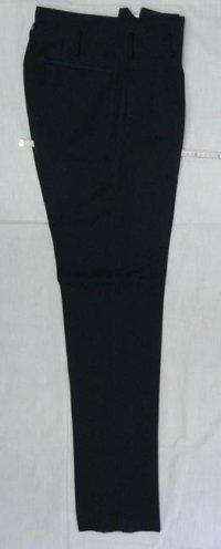 変形 学生ズボン 2タック ボンタン 黒 (通販 学生服 ヤンキー)6000