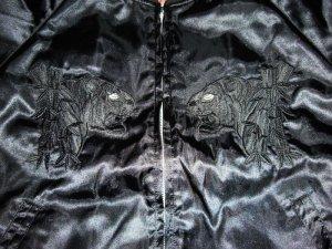 画像4: 黒無地スカジャン 虎刺繍