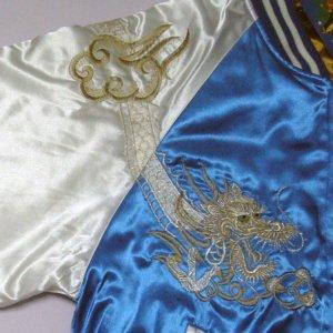 画像3: スカジャン 日本製 白虎と巻白龍 名前の刺繍可能 マジすか学園4 バカモノ着用タイプ 川栄李奈