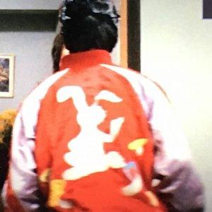 画像3: 【受注生産】 スカジャン ウサギ 駒 刺繍 赤コンビ 国産