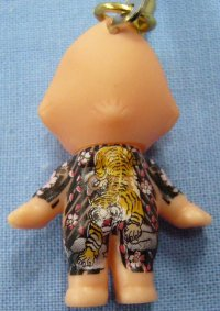 【虎】刺青キューピー携帯ストラップ悪羅悪羅系根付 通販