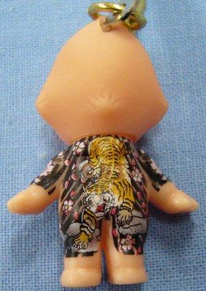 画像1: 【虎】刺青キューピー携帯ストラップ悪羅悪羅系根付 通販