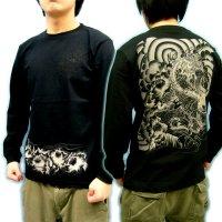 唐獅子牡丹 和柄 長袖Tシャツ 刺青デザインの紅雀(名入れ刺繍可)通販 和柄服