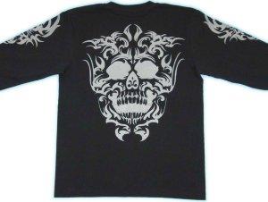 画像4: スカルトライバル 和柄 長袖Tシャツ 刺青デザインの紅雀(名入れ刺繍可)通販