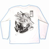 史進 和柄 長袖Tシャツ 刺青デザインの紅雀(名入れ刺繍可)通販 和柄服
