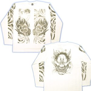 画像5: 般若 みきり 和柄 長袖Tシャツ 刺青デザイン 紅雀(名入れ刺繍可)通販 和柄服