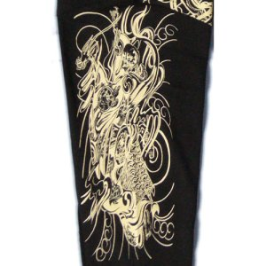 画像4: 舞踊 髑髏 と輪入道 和柄 長袖Tシャツ 刺青デザインの紅雀(名入れ刺繍可)通販 和柄服