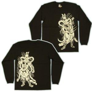 画像4: 金剛力士像 和柄 長袖Tシャツ 刺青デザインの紅雀(名入れ刺繍可)通販 和柄服
