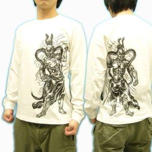 画像3: 金剛力士像 和柄 長袖Tシャツ 刺青デザインの紅雀(名入れ刺繍可)通販 和柄服