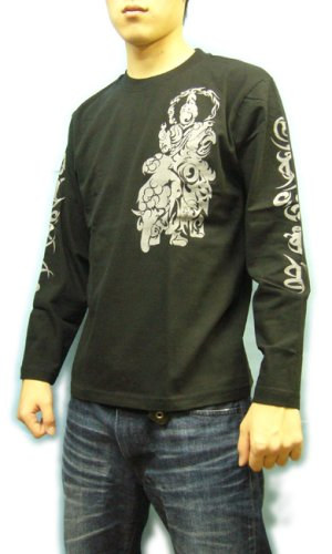 画像4: 四天王 和柄 長袖Tシャツ 刺青デザインの紅雀(名入れ刺繍可)通販