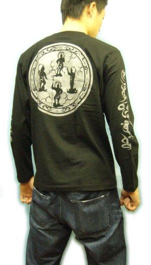 画像5: 四天王 和柄 長袖Tシャツ 刺青デザインの紅雀(名入れ刺繍可)通販