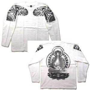 画像5: 阿弥陀如来 刺青 の仏像画 和柄 長袖tシャツ 紅雀通販 名前刺繍可 和彫り デザイン 和柄服
