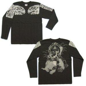 画像4: 六牙の象に乗る 普賢菩薩 の仏画 和柄 長袖Tシャツ 紅雀通販 (名前刺繍) 釈迦如来の脇侍 和柄服