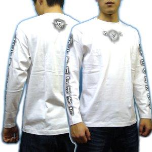 画像5: 毘沙門天 梵字 長袖Tシャツ 刺青 デザイン 梵字タトゥー Tシャツの袖にデザイン (名入れ刺繍可)通販 和柄服