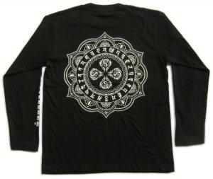 画像4: 毘盧遮那 梵字 長袖Tシャツ 刺青 デザイン (名入れ刺繍可)通販 梵字タトゥー