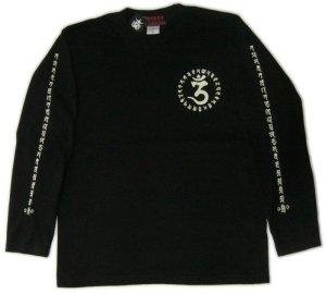 画像3: 毘盧遮那 梵字 長袖Tシャツ 刺青 デザイン (名入れ刺繍可)通販 梵字タトゥー