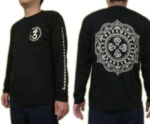 画像2: 毘盧遮那 梵字 長袖Tシャツ 刺青 デザイン (名入れ刺繍可)通販 梵字タトゥー