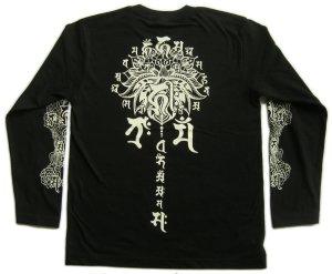 画像3: 阿弥陀来迎 梵字 長袖Tシャツ 刺青 デザイン (名入れ刺繍可)通販 梵字タトゥー