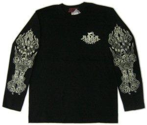画像2: 阿弥陀来迎 梵字 長袖Tシャツ 刺青 デザイン (名入れ刺繍可)通販 梵字タトゥー