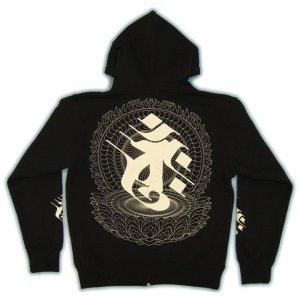画像4: 蓮華座大日 梵字 スエット パーカー 刺青デザインのマハースカ(名入れ刺繍可)通販 和柄服