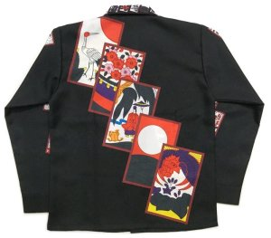 画像2: 長袖 アロハシャツ 花札 長袖 メンズ ブランド 大きいサイズ 3L 4L 5L 受注生産 ギャンブルシャツ 日本製 受注生産