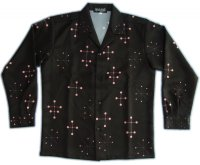 オープンシャツ 50s スモールドット S M L LL 3L
