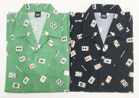 麻雀牌 国士無双 アロハシャツ 和柄アロハ 大きいサイズ ギャンブルシャツ 3L 4L 5L 受注生産