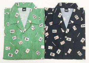 画像1: 麻雀牌 国士無双 アロハシャツ 和柄アロハ 大きいサイズ ギャンブルシャツ 3L 4L 5L 受注生産