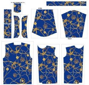 画像2: ラグジュアリー スカーフ柄 長袖シャツ 大きいサイズ 3L 4L 5L
