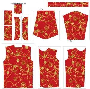 画像3: ラグジュアリー スカーフ柄 長袖シャツ 大きいサイズ 3L 4L 5L