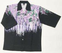 藤の花 7分袖アロハシャツ メンズ 大きいサイズ 和柄 ブランド 紅雀