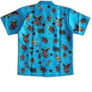 画像2: 半袖 オープンシャツ タトゥー S M L LL 3L 4L 5L