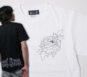 画像1: 紅雀 和柄 唐獅子牡丹 聖獣 Tシャツ 刺青 和彫り デザイン 和柄服