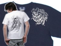 紅雀 和柄 桜吹雪侍 Tシャツ 刺青 和彫り デザイン 和柄服
