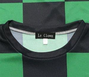 画像3: 緑黒市松 受注生産 ポリエステルドライTシャツ 日本製 コスチューム