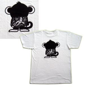 画像2: 刺青 サル Tシャツ。かわいいキャラクターを和彫デザイン