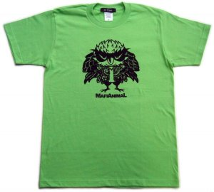 画像4: 刺青 フクロウ Tシャツ。かわいいキャラクターを和彫デザイン