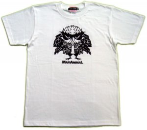 画像2: 刺青 フクロウ Tシャツ。かわいいキャラクターを和彫デザイン