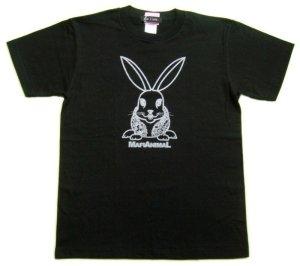 画像2: 刺青 ウサギ Tシャツ。かわいいキャラクターを和彫デザイン