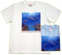 プラゴミTシャツ Turtle dolphin アオウミガメ ホヌ Honu