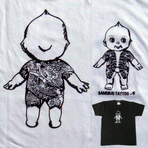 画像1: 刺青 キューピー Tシャツ タトゥー QP 和彫り プリント